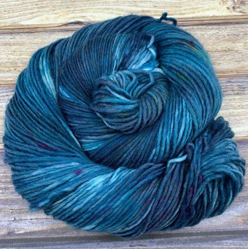 hand-dyed blue yarn